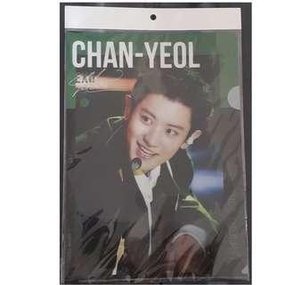 🚚 韓國購入 EXO 燦烈 CHANYEOL L夾 資料夾 檔案夾 文具