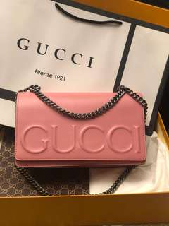 GUCCI EMBOSSED BAG