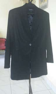 Womens long blazer / black jacket