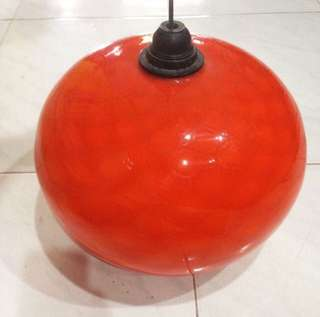 Original 1960's Retro Art Glass Lamp Shade Space Age Ceiling Light Fixture Gorgeous Home Decor