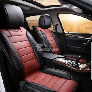 Car customize Leather seat 5 to 7 seater one or two Colour mix and Design of your choice is fully cover from head rest to front back and side cover seats we also customize for van / mini bus or bus all the price's  Hari Raya - $100 only $248
