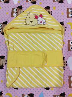 🚚 麗嬰房 小熊維尼純棉包巾