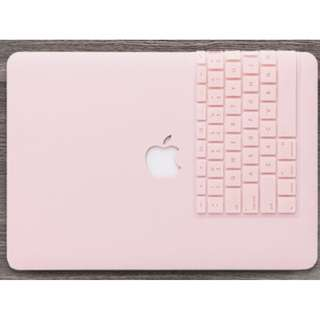✔️INSTOCKS✔️ Pastel Pink Color Macbook Casing