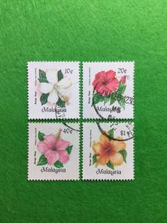 1984 Hibiscus of Malaysia 4V Used Set