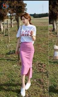 🚚 包臀粉色長裙