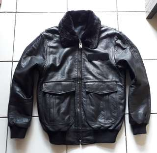 The Original Smooth LEATHER Type A.2 Buzricson Jacket