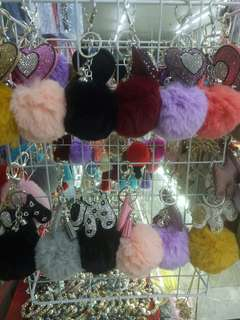 Fluffy Fur Keychains