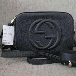 Authentic Gucci GG Soho Disco Bag Black