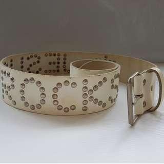 Vintage All Saints Belts, Retro Leather Belts, Rare Jesus Rocks Designer Belt with Buckle, Original, United Kingdom, Genuine Leather, Soft Leather, Street Smart Style, Hip Hop Fashion