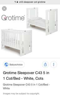 Grotime Convertible 5-in-1 Cot
