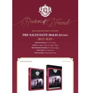 [PREORDER] GFRIEND (여자친구) - 2018 GFRIEND FIRST CONCERT [Season of GFRIEND] Blu-ray