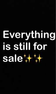 Items still for sale