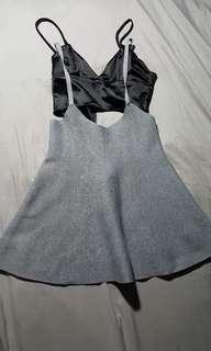 Skirt gray jumper