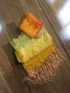 Orange scraf