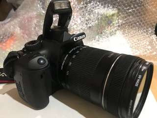 JUAL SANTAI CANON 550d + lensa 18-135mm f 3.5 + printer selphy