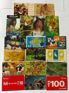 18pcs Old Phone Cards