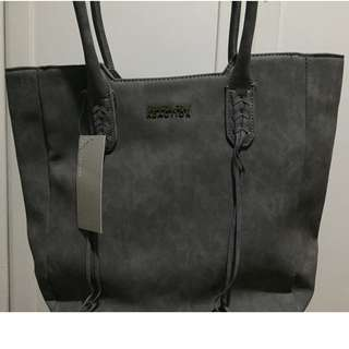 Kenneth Cole Gray Suede Bag