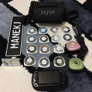 Preloved PSP with 14 UMD games