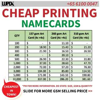CHEAPEST NAMECARD / BUSINESS CARD PRINTING, GREAT QUALITY