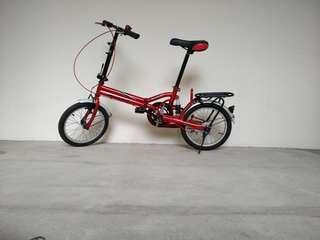 Single speed folding bicycle