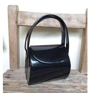 Skin&Moss復古深藍黑色星空小圓桶硬殼漆皮手提包晚宴包硬殼包立體包
