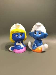 懷舊珍藏 1980年代 藍精靈 Smurf 拉鍊會出聲說話 香港製造 Made in HongKong 共2隻 $680