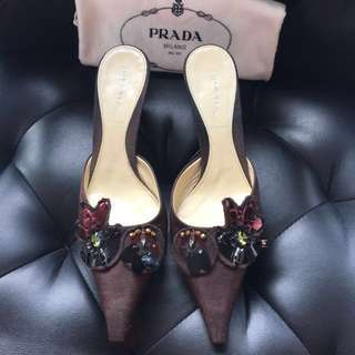 Prada shoes with sequins
