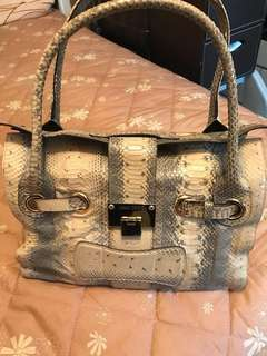 清櫃大減價 Jimmy Choo 蟒蛇皮 handbag