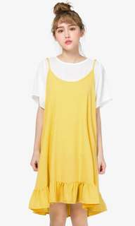 Frill pinafore dress