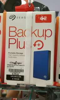 "Seagate backup plus External Hard Drive 4TB New in Box  Lowest price guarantee Portable hard drive 2.5"" Brand New in Box"