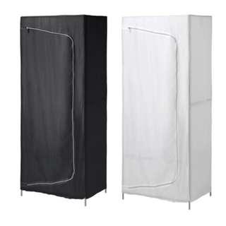 IKEA BREIM Wardrobe, white/black