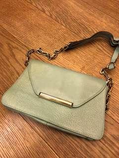 購自韓國 綠色單肩斜揹袋