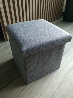 Cotten linen Storage Stool shoe folding cabinet bench