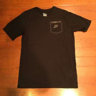 NIKE NSW TRI-BLEND TECH 男女 運動休閒短袖T恤 短T 素T 黑白點點 3M反光口袋 YXL=S