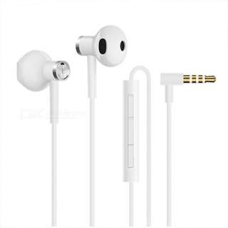 2018 New Original Xiaomi Mi Dual Driver 3.5mm Wired Earphone with Microphone - White