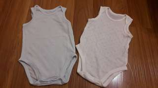 80cm Uniqlo Mesh Bodysuit set of 2