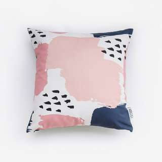 Navy Blush Cushion 40 x 40