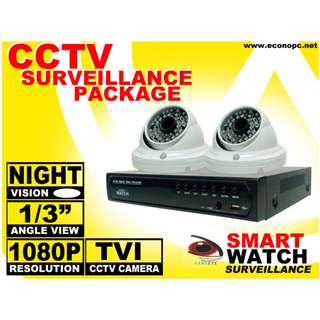 CCTV TVI HD Camera Package for Indoor with 2 Megapixel and 1080p Resolution