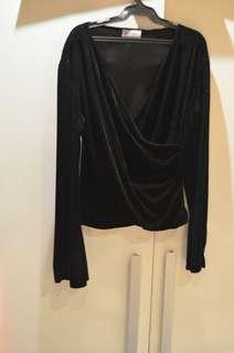 Velvet top black