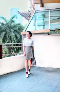 Promod Checkered skirt