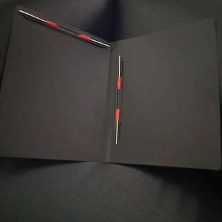 A4 Document Folder with Horizontal & Vertical Binder. Brand new, never used