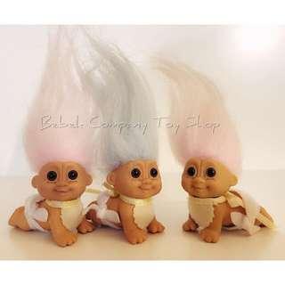 👶🏻1980s vintage troll doll trolls  醜娃 寶寶 巨魔娃娃 幸運小子 古董玩具 絕版