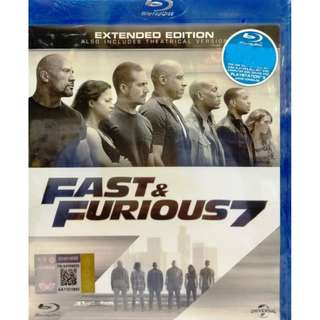 Fast & Furious 7 Extended Edition Blu-ray