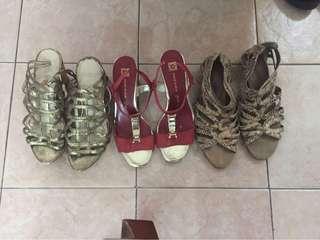 Bundle of 3 branded shoes