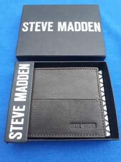 Steve Madden mens leather wallet