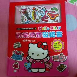 Hello Kitty 歡樂派對磁鐵書 內含40個磁鐵物件
