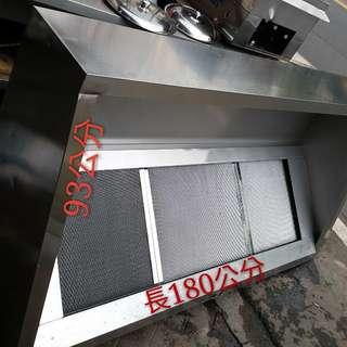 富旺(生財器具)煙罩 排油煙罩 炒爐 快炒台 煙罩 白鐵煙罩 正白鐵厚料