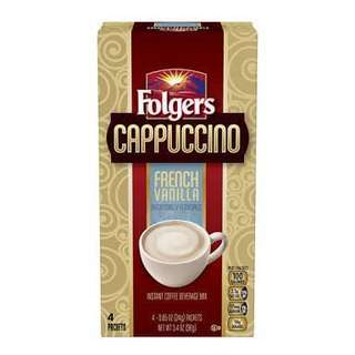Folgers Cappuccino French Vanilla 4 packets