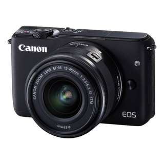 Canon EOS M10 Black Kit ( 15-45mm IS STM ). Original Warranty Canon Malaysia 3 Years. Free Sandisk 16gb card, Extra Battery and Bag