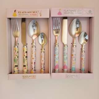 New!! Flatware Set Disney Alat Makan